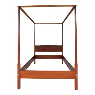 Biggs Shaker Style Mahogany Tester Full Size Pencil Poster Bed For Sale