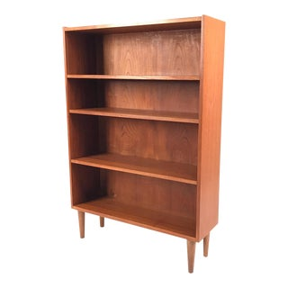 Vintage Danish Teak Bookcase For Sale