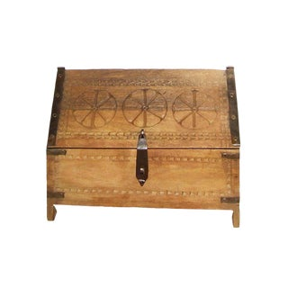 1990s Moroccan Wood and Iron Moroccan Inspired Box For Sale