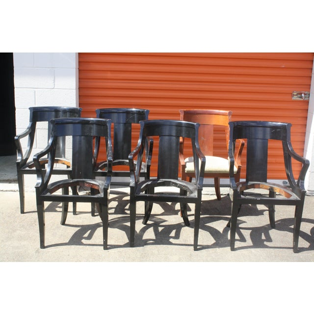 Baker Dining Armchairs - Set of 6 - Image 2 of 5