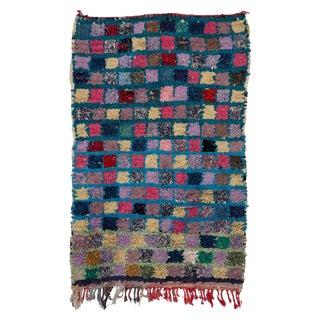 "Boucherouite Moroccan Carpet - 4'9""x3'2"""