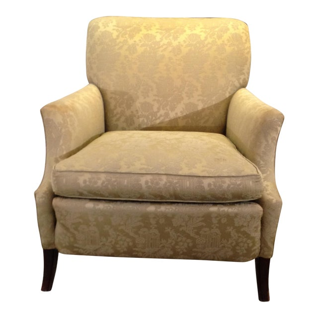 1930s Antique Coil Sprung Armchair For Sale