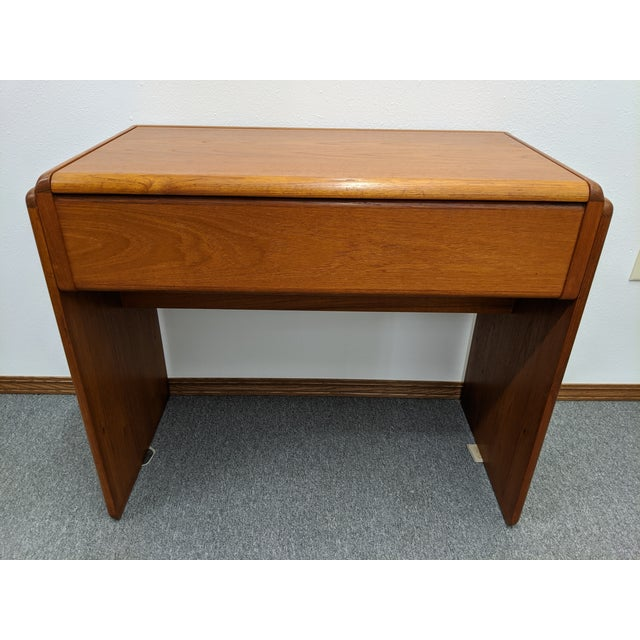 1960s Danish Makeup Vanity With Stool For Sale - Image 5 of 10