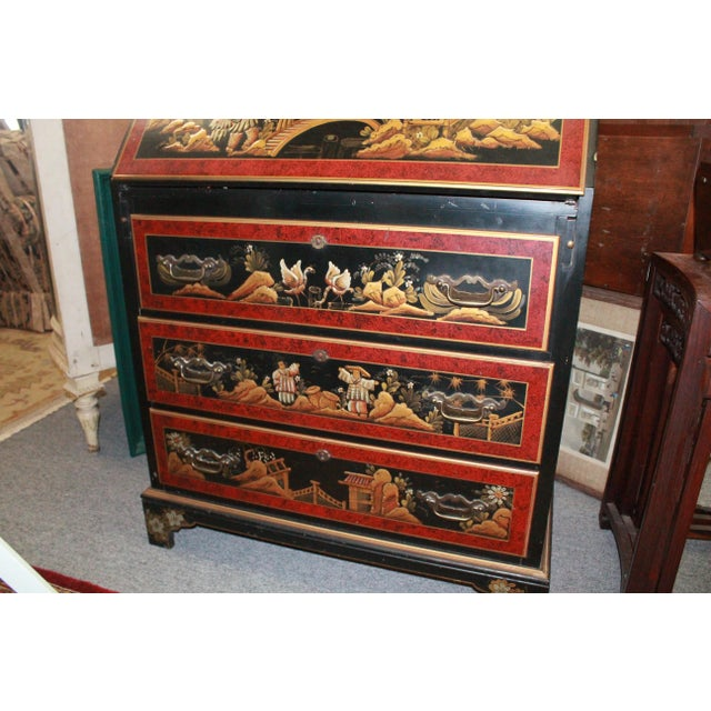 Mid 20th Century 20th Century Asian Secretary Desk For Sale - Image 5 of 7