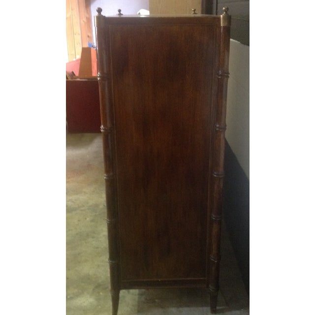 Stanley Faux Bamboo Dresser - Image 4 of 8