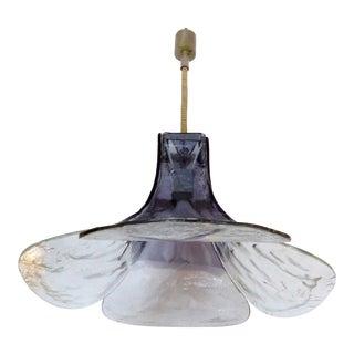Murano Glass Flower Petal Pendant Light by Carlo Nason for Mazzega, Italy For Sale