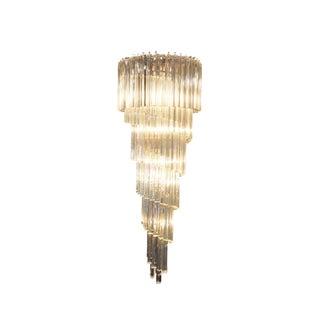 Elegant Spiral Murano Glass Chandelier by Venini For Sale