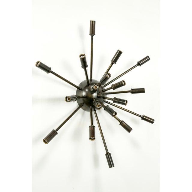 2010s Sputnik Flush Mount / Sconce in Brass or Bronze Finish For Sale - Image 5 of 9