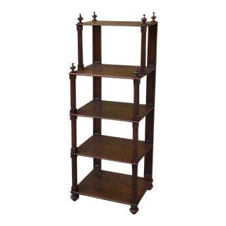 19th Century English Mahogany Sideboard ~ Server ~ Bookshelf For Sale