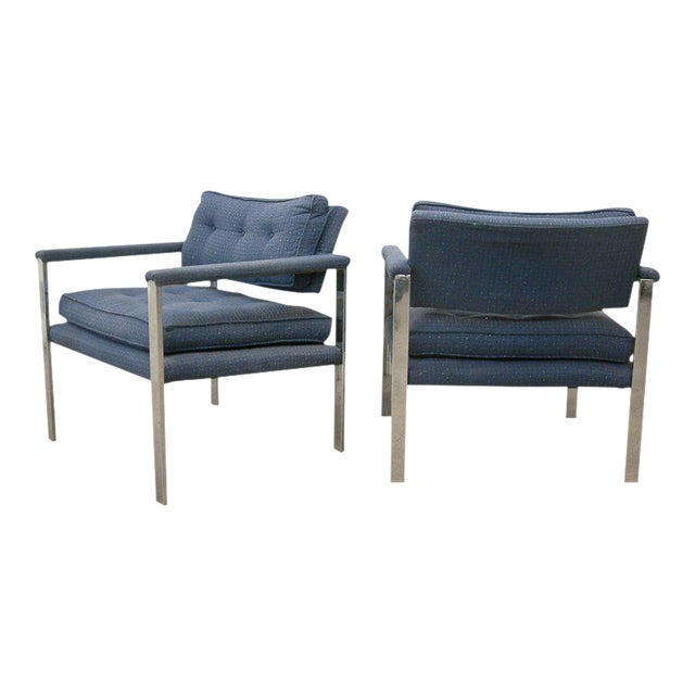 1970s Milo Baughman for Thayer Coggin Lounge Chairs - a Pair For Sale