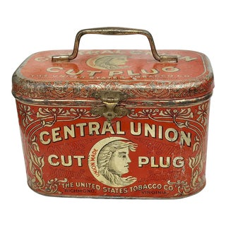 Central Union Cut Plug Tobacco Tin For Sale