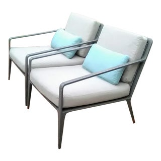 Brown Jordan Still Lounge Chairs- a Pair For Sale