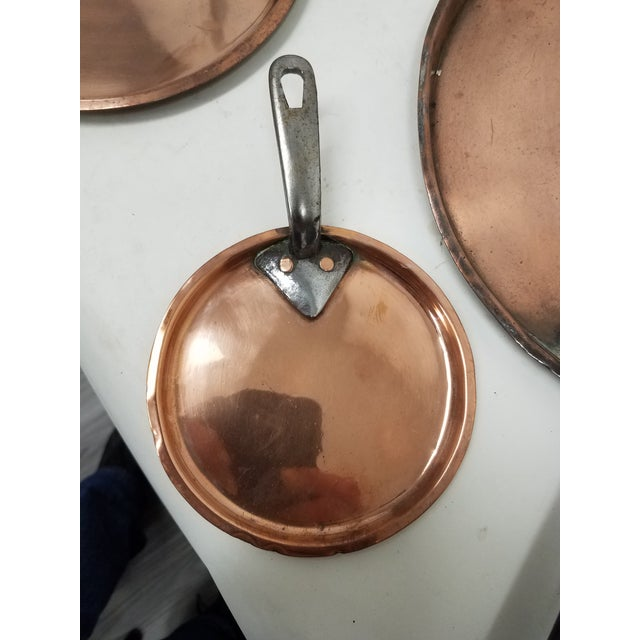 Four Antique English Copper Pan Lids - Set of 4 For Sale In Dallas - Image 6 of 8