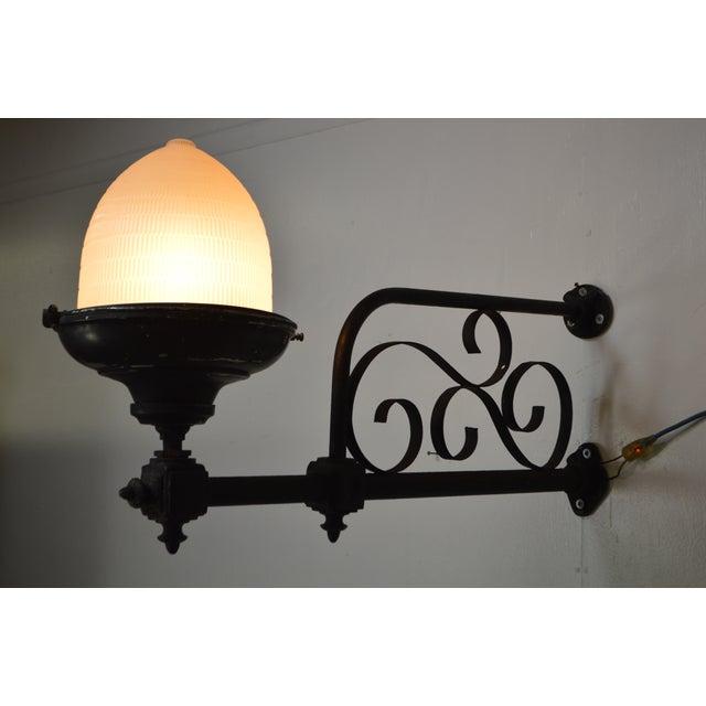 antique 19th century wrought iron philadelphia street lamps a pair