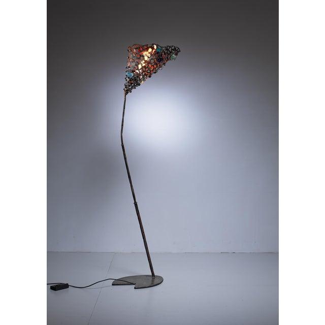Modern Salvino Marsura unique floor lamp, Italy, 1980s For Sale - Image 3 of 7