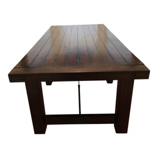 Solid Mahogany Wood Dining Room Table For Sale