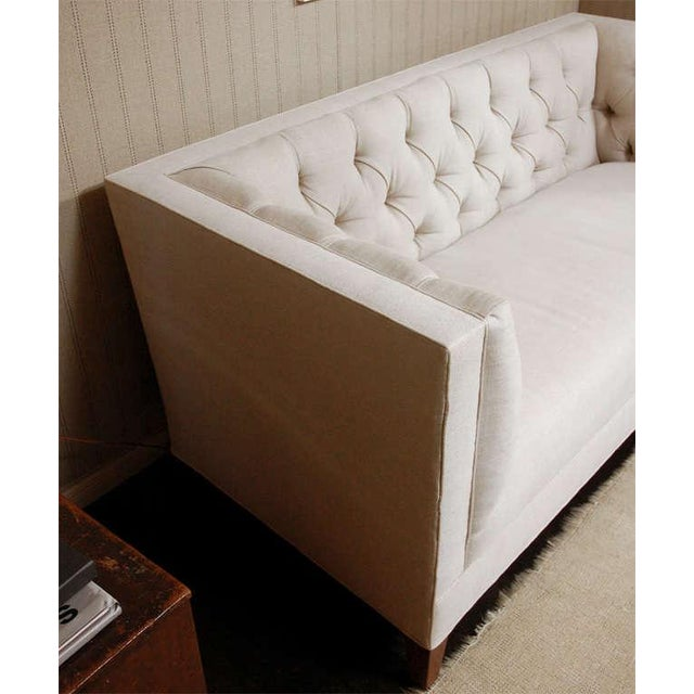 """Not Yet Made - Made To Order """"Tatum"""" by Lee Stanton William IV Style Tufted Sofa For Sale - Image 5 of 6"""