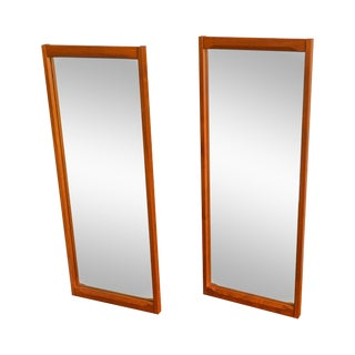 Aksel Kjersgaard by Odder Danish Modern Pair of Teak Wall Mirrors For Sale