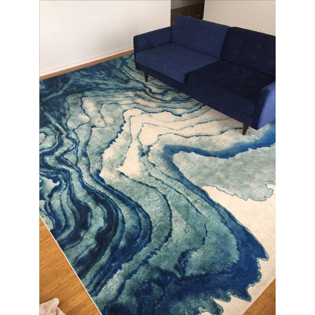 Contemporary Watercolor-Inspired Area Rug - 10' X 13' - Image 2 of 2