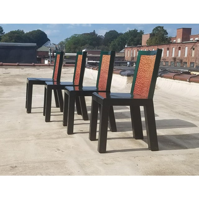 "Mid-Century Modern 1970s Mid-Century Modern Ettore Sottsass ""Danube"" Chairs - Set of 4 For Sale - Image 3 of 8"