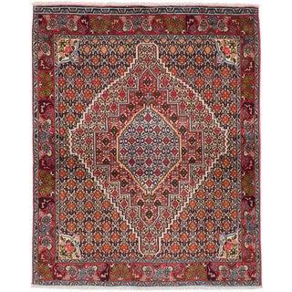 """Senneh Persian Kurdish Rug, 4'0"""" x 5'1"""""""