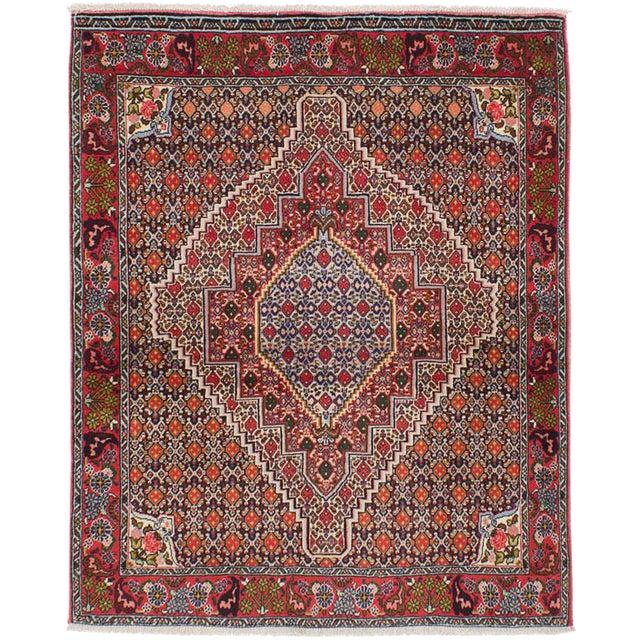 "Senneh Persian Kurdish Rug, 4'0"" x 5'1"" For Sale"