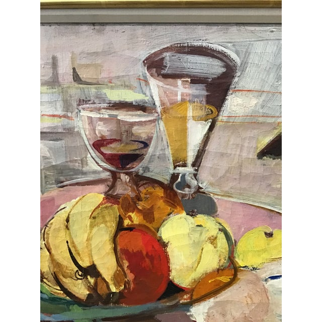 Yellow Mid-Century Still Life Painting For Sale - Image 8 of 12