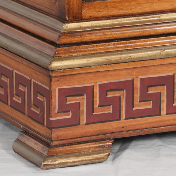 Early 20th Century Early 20th Century Georgian Style Walnut Tantalus Set - Set of 4 For Sale - Image 5 of 6