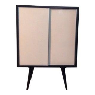 MCM Paul McCobb Sliding Door Cabinet on Base 1950s For Sale