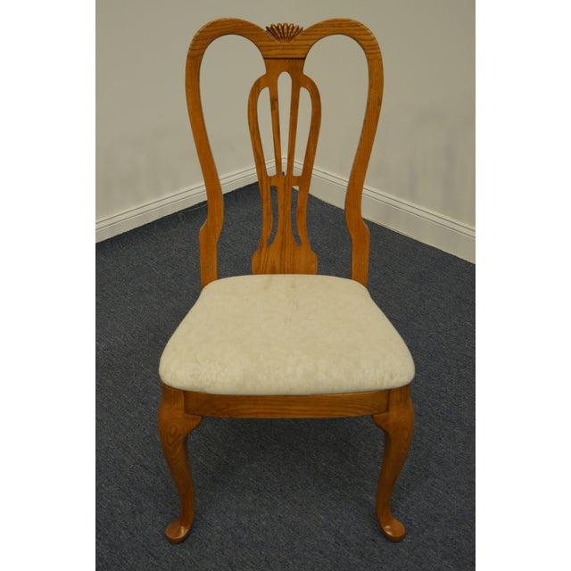 French Pennsylvania House Solid Oak Country French Side Chair For Sale - Image 3 of 11