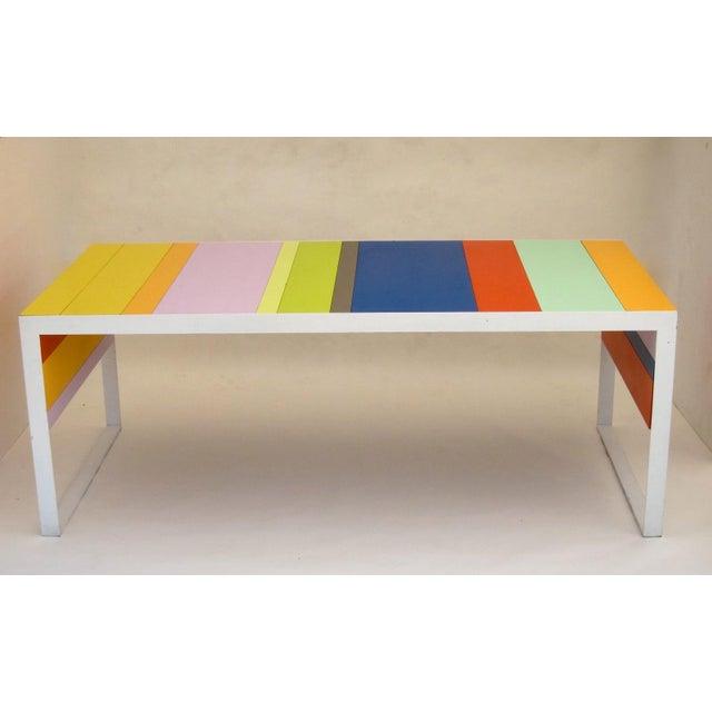 Italian Memphis Modern Style Multi Color Table Desk For Sale - Image 3 of 7