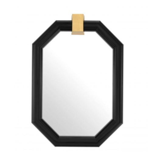 Arno Octagonal Black Frame Wall Mirror For Sale - Image 4 of 4