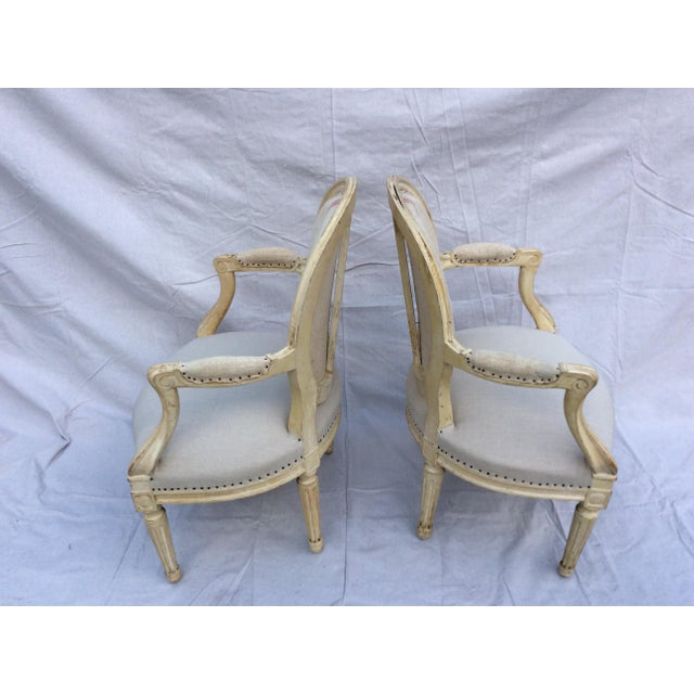 Vintage French Side Chairs - a Pair For Sale - Image 4 of 9