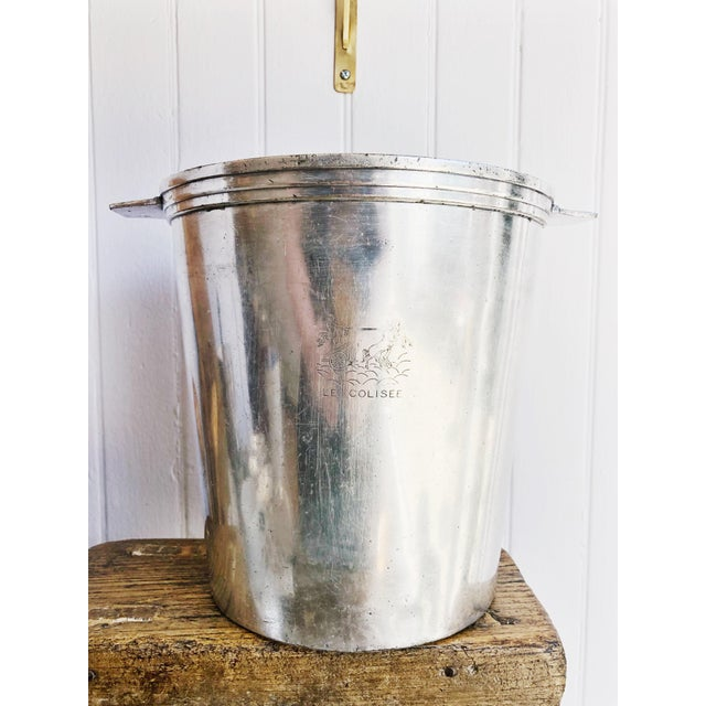 Art Deco Vintage Christofle Silver Champagne Bucket From Le Colisee Hotel Paris For Sale - Image 3 of 10