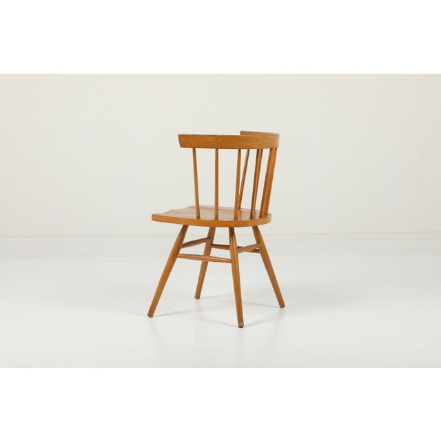 Mid-Century Modern 1940s Vintage George Nakashima for Knoll Straight Chair For Sale - Image 3 of 11