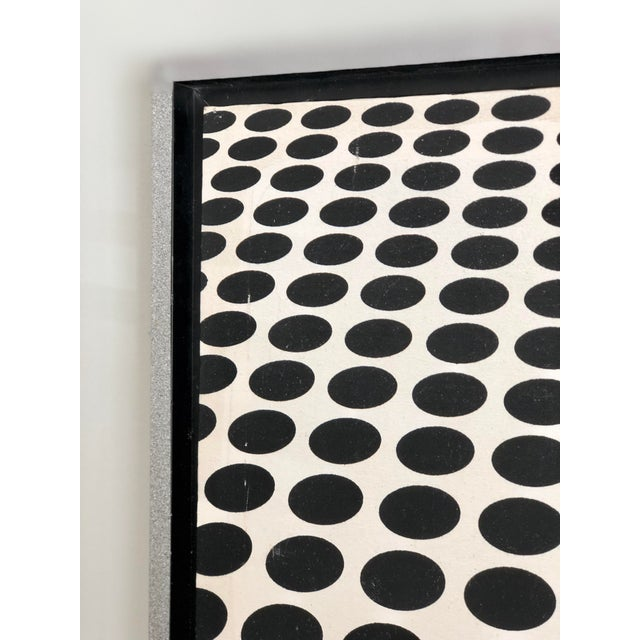 Op Art Black and White Op Art Painting in the Manner of Vasarely For Sale - Image 3 of 7