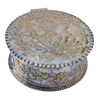 20th Century Art Nouveau Large Ornate Silver Plated Box For Sale