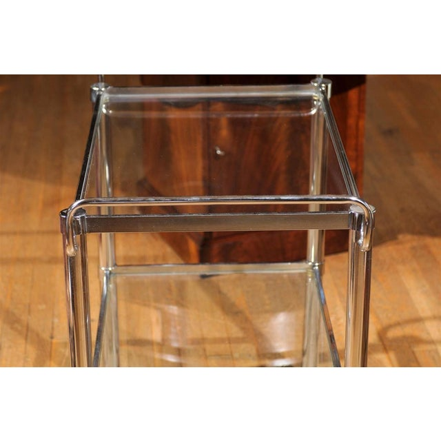 Chrome Two Tier Bar Cart For Sale - Image 4 of 7