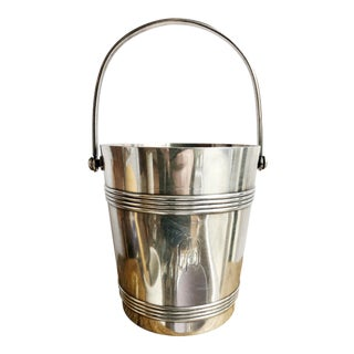 Vintage Christofle Silver Ice Bucket For Sale