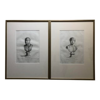 Etchings From Antonio Zanetti's 1740 Delle Antiche Statue Greche E Romane-a Pair For Sale