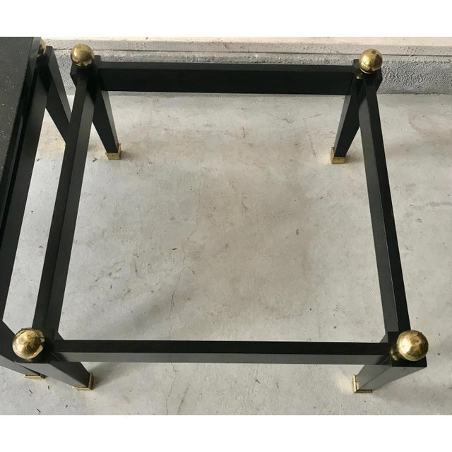 Pace Collection 1980's Art Deco Black Lacquer Side Tables - a Pair For Sale - Image 4 of 9