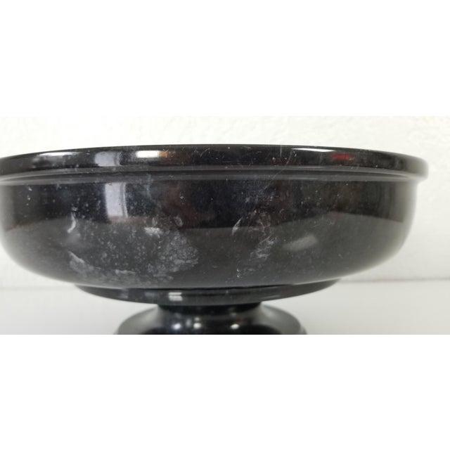 Vintage Black Marble Pedestal Bowl For Sale - Image 4 of 9