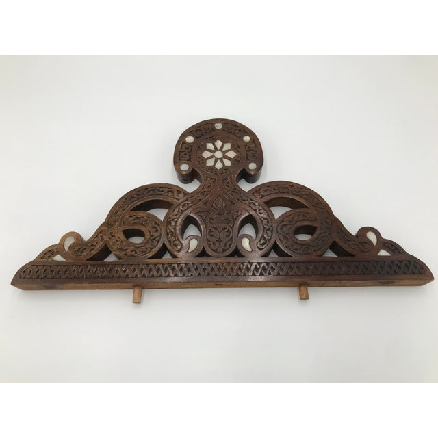 Brown Moroccan Wood Decorative Object For Sale - Image 8 of 8