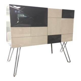 Resource Decor Mondrian Modern Classic Nightstand For Sale
