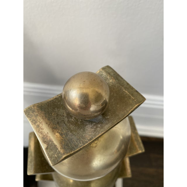 Mid 20th Century Vintage Mid-Century Modern Art Deco Andirons/Chenets - a Pair For Sale - Image 5 of 7