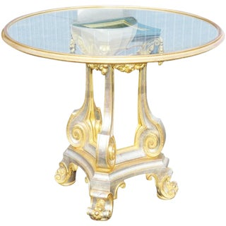 Directoire Style Glass Top Center Table For Sale