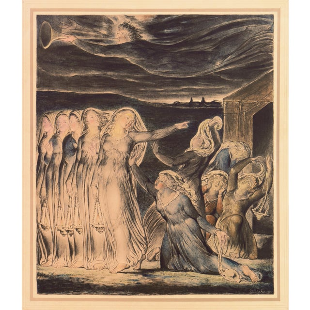 A fine, late 19th century, hand-colored lithograph after William Blake's original watercolor. During 1799-1800, Blake...