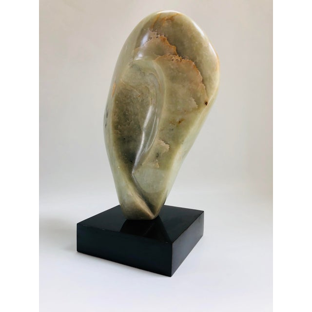 Light Green Noguchi Inspired Mid-Century Modern Abstract Biomorphic Marble Sculpture For Sale - Image 8 of 12