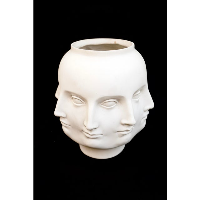 """Dora Maar Fornasetti Style White Perpetual 8-Faces Vase/Planter Marked/Dated """"TMS 2005"""" Incredible abstract off white..."""