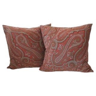 Pair of 19th Century Paisley Pillows For Sale